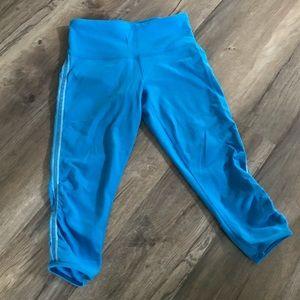 Lululemon Cropped Leggings Sz 2 Blue